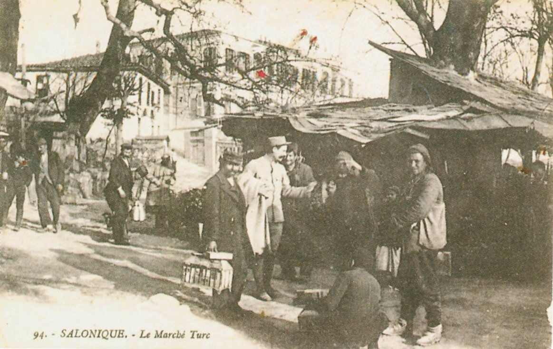 1914-1918_Salonique_Le_marche_Turc_The_Turkish_market