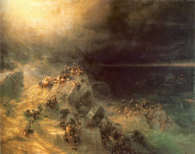 Это Айвазовский И. К., Всемирный потоп, 1864 г