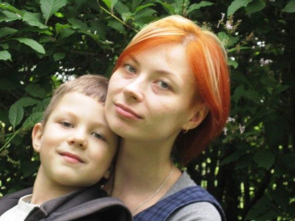 Илона с сыном Серафимом