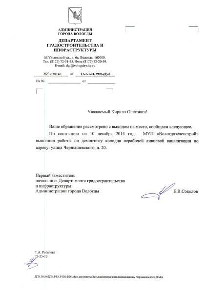Ответ Чернышевского 20