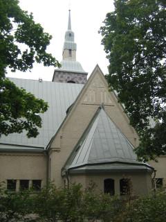 Terijoen kirkko - takajulkisivu