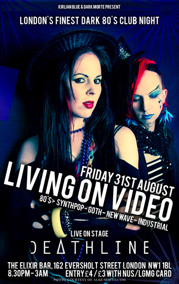LIVING ON VIDEO flyer 31/08/2012