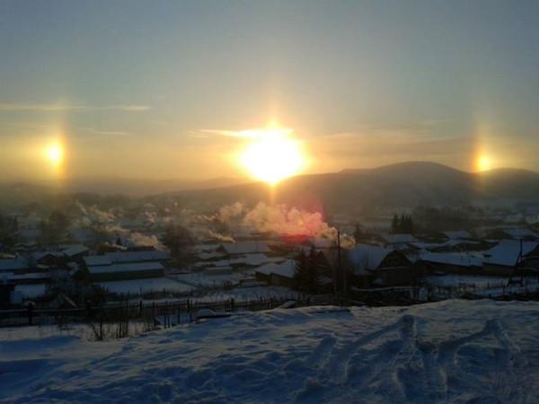 Явление гало в Алтайском крае