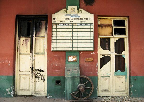 Argentina railway depot