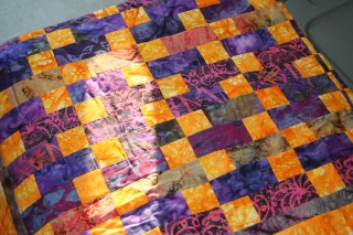 Purple and Orange quilt