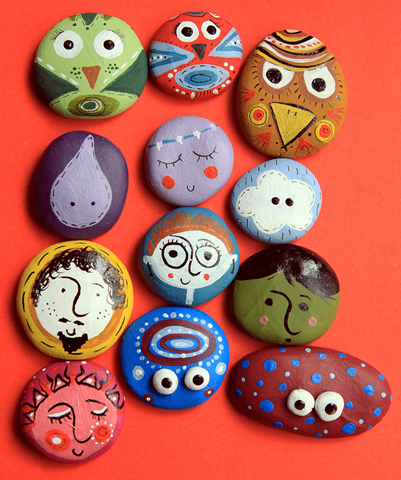 clay brooches