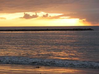 Закат на пляже Fañabe