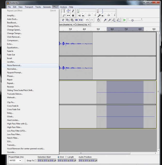 Turian Voice Tutorial - Audacity: masseffect — LiveJournal