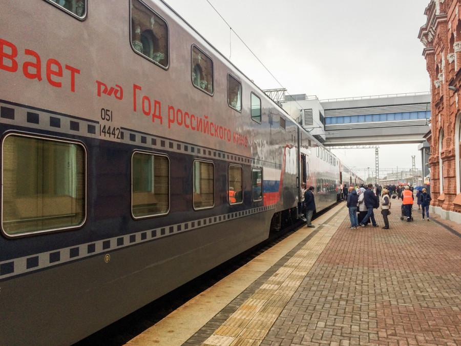 Двухэтажный поезд РЖД © Никита Перфильев