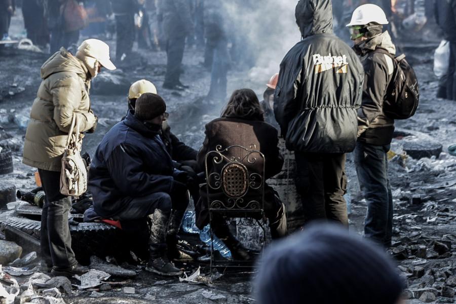 Революционные фотозарисовки с Евромайдана в Киеве © Никита Перфильев