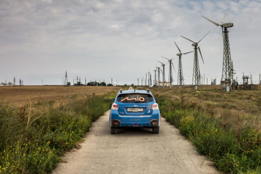 Ветряные электростанции в Крыму © Никита Перфильев