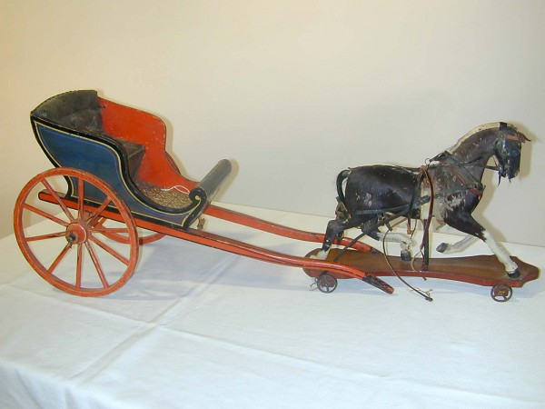 lot541Horse.buggy.toy
