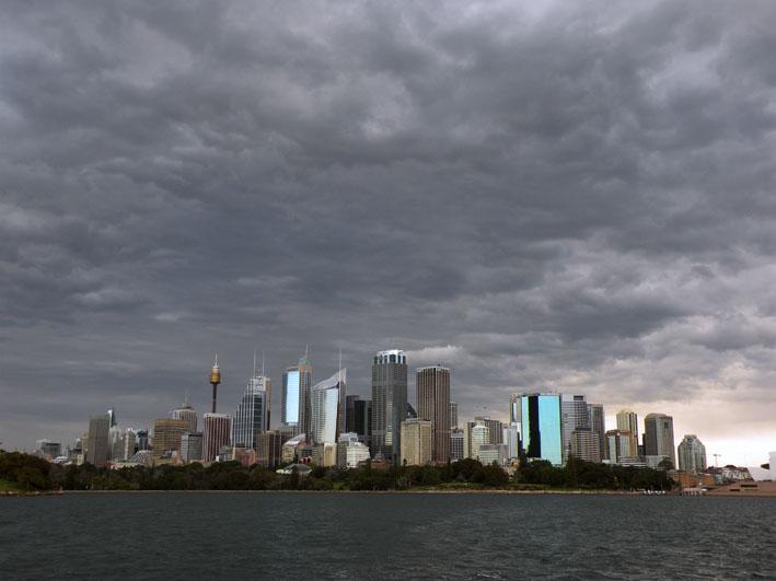 Вид на Сидней с моря