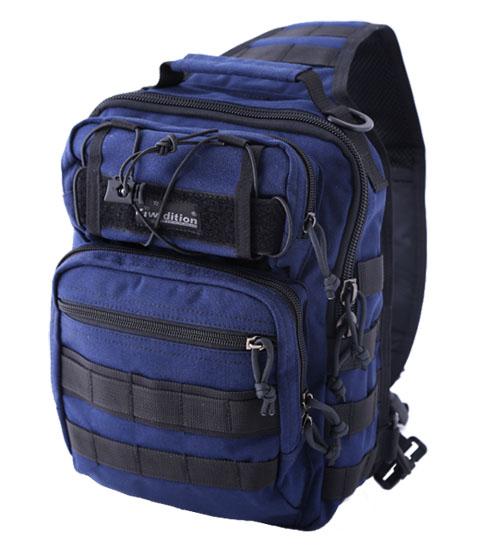 Многоцелевой однолямочный рюкзак kiwidition MATANGI ЗТемно-синий (Dark Navy / Blak)