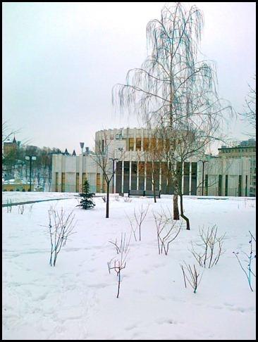 Киев. Участок Владимирской горки, на котором  будет восстановлена панорама Голгофа