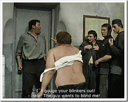 Джентльмены удачи: Моргалы выколю! Помогите! Хулиганы зрения лишают!