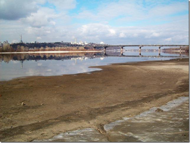 Сброс воды из Днепра