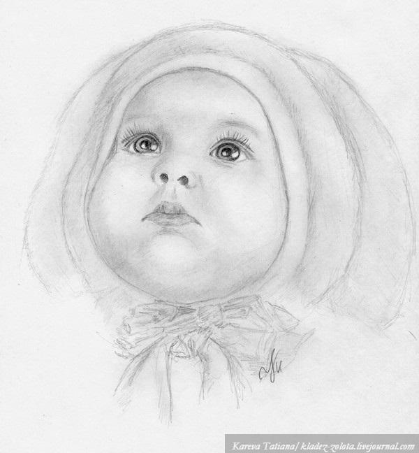 Рисунки маленькие дети карандашом