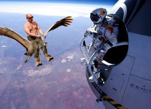 Путин и Феликс Баумгартнер