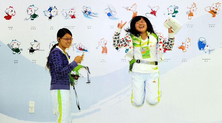 16 Азиатские Игры. 2010 Asian Games. Значки с изображением видов спорта.