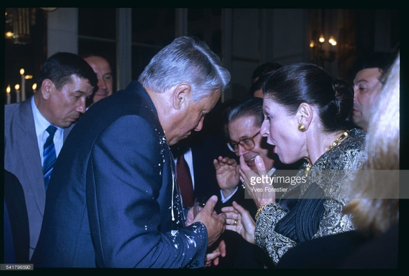 Ельцин в Париже.
