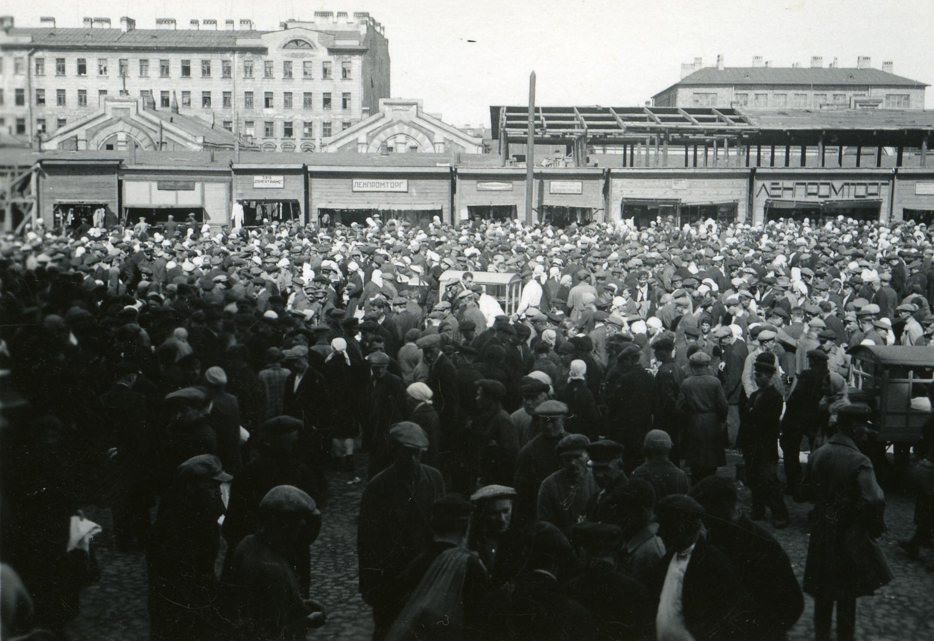 Gateliv_i_Sovjetunionen_-_Markedsplass_2_(1935)