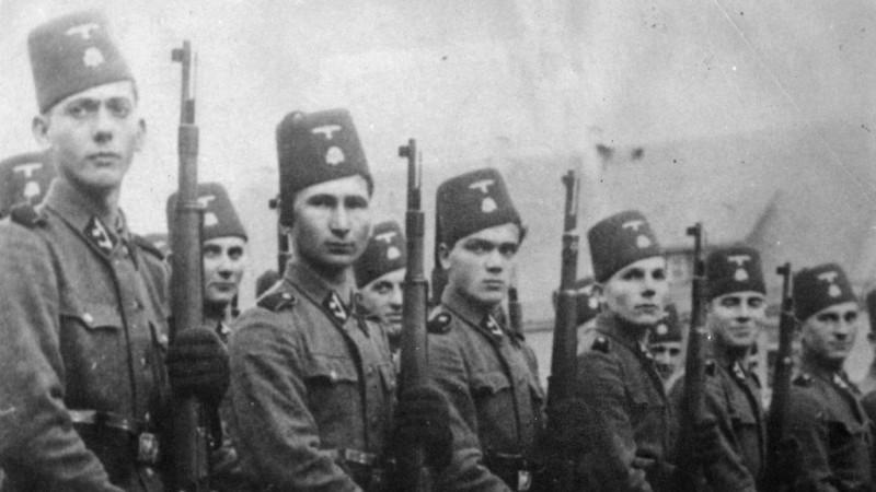 Мусульмане в рядах СС Ханджар, войск, дивизии, против, горная, 1944В, партизан, захвата, уничтожения, евреев, цыган, сербов, Независимом, государстве, Хорватия, Красной, декабре, Венгрии, Армии, практически