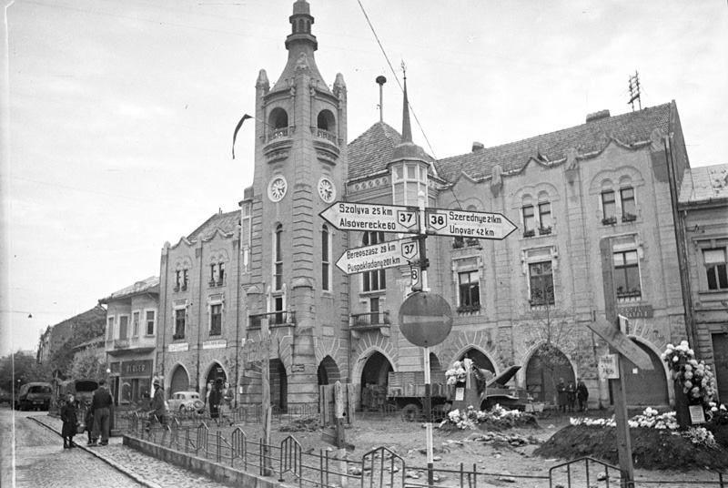 Город Мукачево в ноябре 1944 года