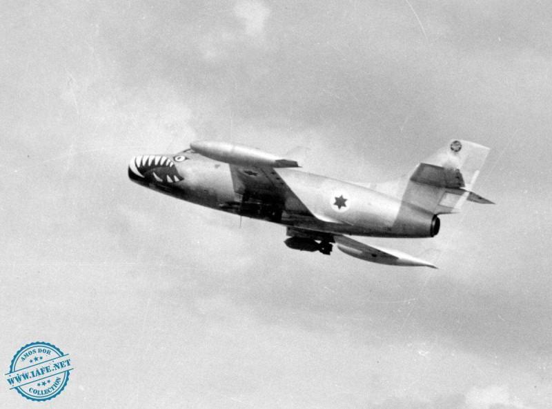 Истребители Ouragan в ВВС Израиля