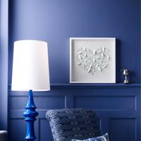 синие стены покраска
