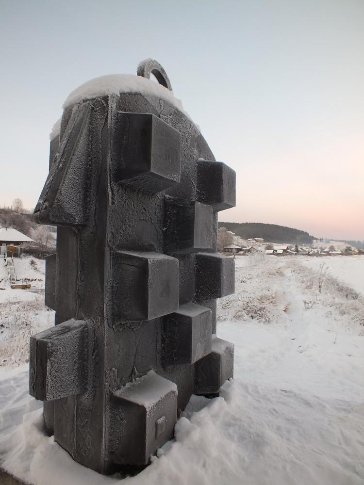 Пермский край, село Кын. Памятник сплаву «железных караванов»