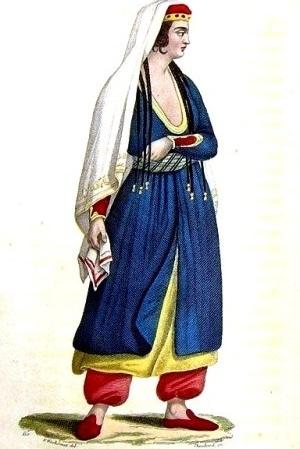 Средневековая женская одежда черкешенки
