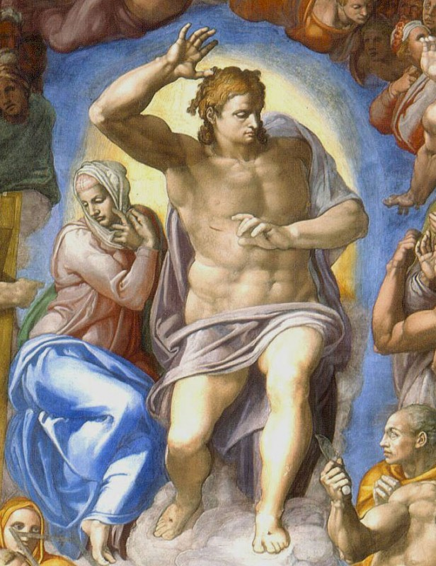 Иисус Христос на фреске в Сикстинской капелле
