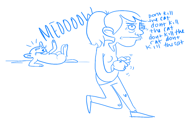 super detailed artistic rendering of cat and me