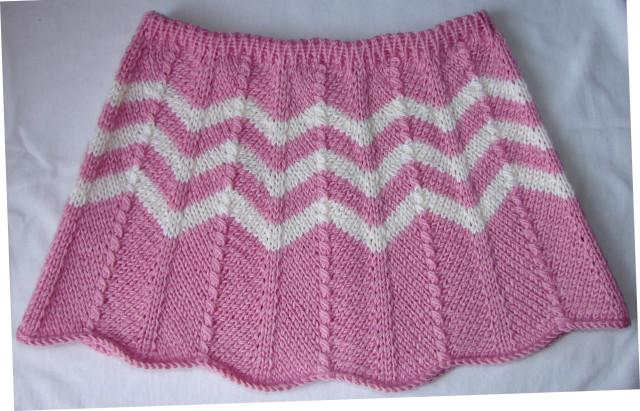 Вязание на спицах для девочек.юбки
