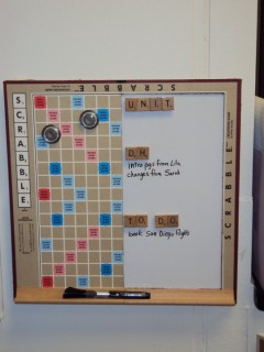 Scrabble Board Completed And In Use