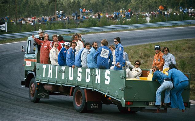 Райнер Шлегельмильх 1974 год, Гран-при Швеции. Парад пилотов перед стартом гонки