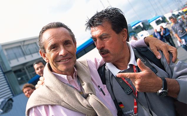 Райнер Шлегельмильх и его старый знакомый Жаки Икс 2003 год, Гран-при Австрии.