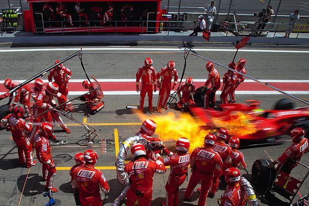 Райнер Шлегельмильх. 2007 год, Гран-при Испании. Пит-стоп Фелипе Массы
