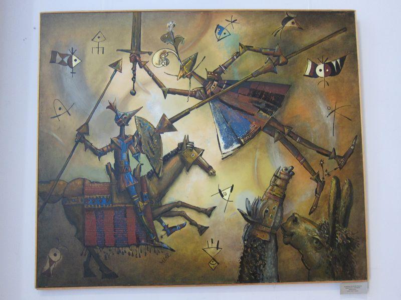 Отчаянная битва Дон Кихота  Ламанчкого с Рыцарем Белой Луны