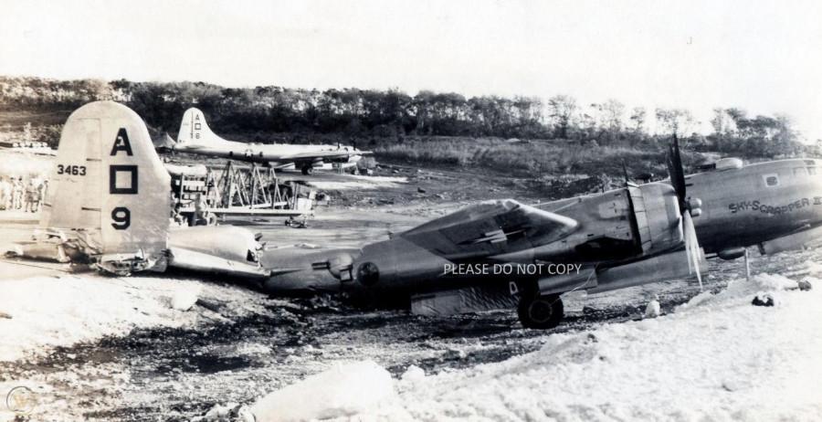B-29.~Sky-Scrapper II~.(b).[m- hit flack.crash.-plane-crash-landing]..2019-12-06.02467..