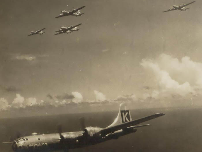 B-29,~Ol' Smoker~,#44-69857,Tail-Black-Square-K-59,[and others in formation][sm],330BG,2020-01-28,00190