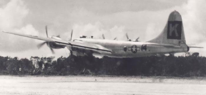 B-29,#42-94032,Tail-Black-Square-K-14,[takeoff photo][sm],330BG,2020-01-28,00060