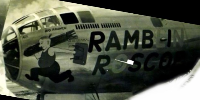 B-29,~Ramblin Roscoe~,882BS,500BG,[Burwell Scrapbook 500BG-photo-110-h-mod],,2020-02-24,00086