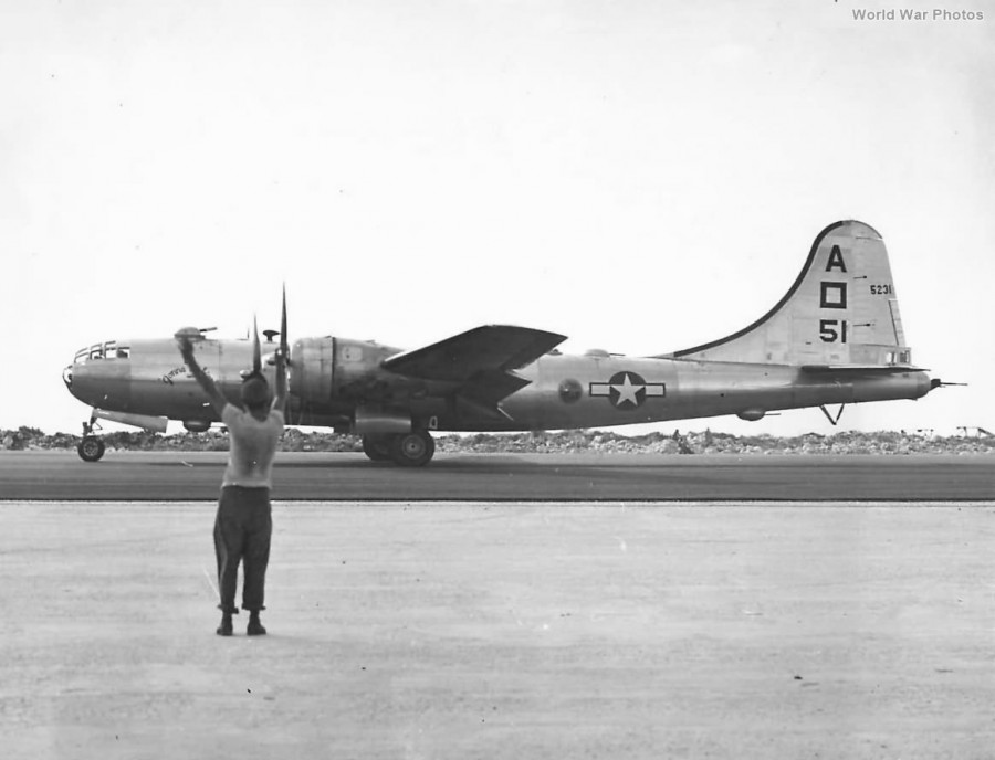 B-29,~Gonna Mak'er~,#42-65231,Tail-A-Square-51,497BG,871BS,[m-takes off from Saipan],[y-1944],2019-12-06,01117