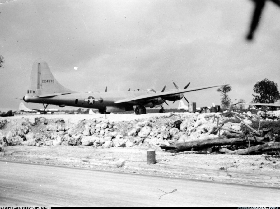 B-29,#42-24870,20AF,313BW,6BG,[Photo taken on Guam by Harold E, Gronenthal, Lost 1945-05-23],2019-12-06,00064