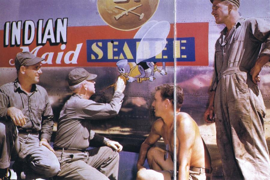 B-29,~Indian Maid~,(b),~67 Seabee~,[u-World War II Nose Art in Color_p044],2019-12-06,01289