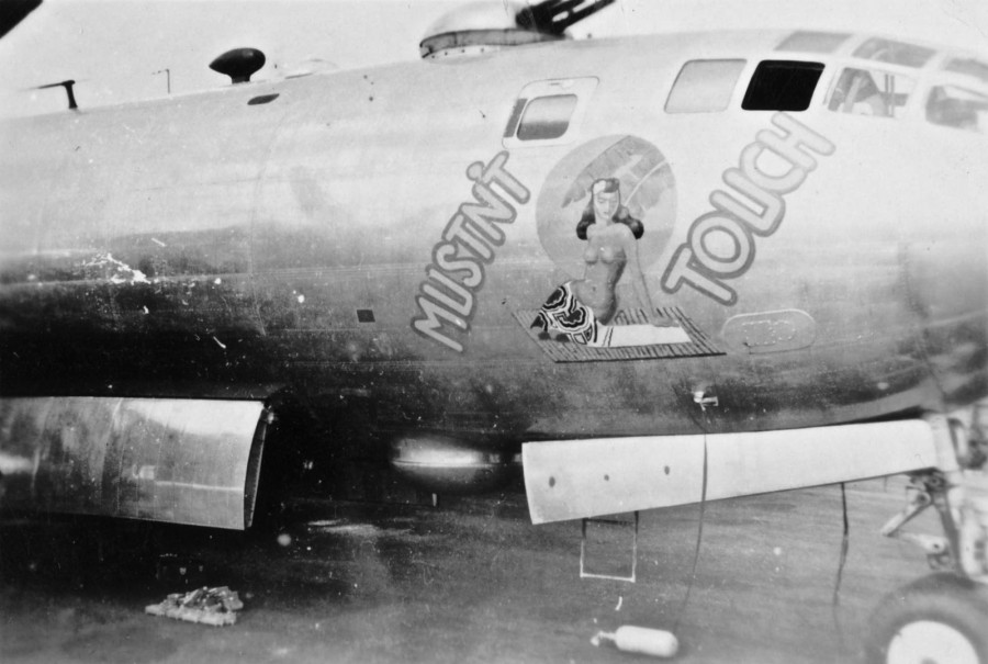B-29.~Mustn't Touch~.#42-24657.tail-Z-Square-45.[m-B-29-40-BW].883BS.500BG.20AF.[m-Lost 1945-01-09.unknown reasons, possibly mechanical. All 11 crewmen were KIA. MACR 10903]..2019-12-06.01867..