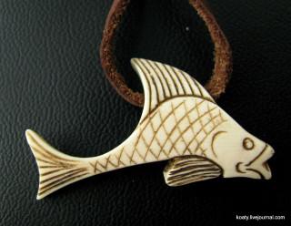 Рыбка-кулон - бивень мамонта
