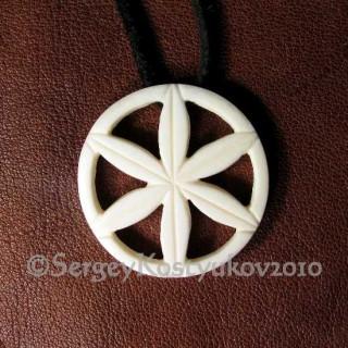 Славянский оберег - Колесо Перуна из кости.